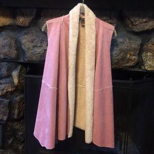 Soft Loose-Fitting Vest (Light Pink/Mauve)